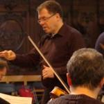 Ruud als orkestdirigent